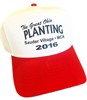The Great Ohio Planting Hat - White/Red